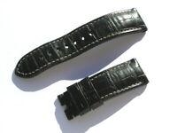 Panerai Uhrenarmband Croco schwarz 24mm 75/120 I547