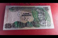RM5 Cross Jaafar sign with Silver Thread 6th series - NQ 4100822 (UNC) #7