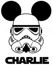 **STAR WARS STORM TROOPER*DISNEY MICKEY MOUSE   FABRIC/T-SHIRT IRON ON TRANSFER