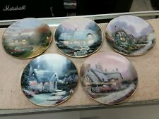 """Lot/5 Thomas Kinkade 8-1/2"""" Cottage Plate Collection 1991 & 1992 Great Condition"""