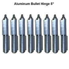 "Heavy duty aluminum hinge Lot 4 Pair 5"" Body Bullet Stainless Steel Bushing"