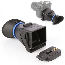 """Universal 3"""" 3.2"""" LCD Viewfinder 3.0X Magnifier For Canon 5D Mark II III IV Sony"""