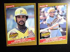 1986 Donruss Highlights Pittsburgh Pirates Team Set of 2 Baseball Cards