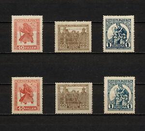 (YYAM 130) Hungary 1920 MH SEMI Mi 312x,y - 314x,y Sc B68 - B71 Vert. or Horiz.