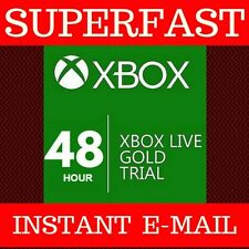 Xbox Live Gold 48 Hour 2 day Trial Membership Code 360 and ONE Instant 24/7!