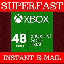 Xbox Live Gold 48 hora 2 día de Código de afiliación de prueba de 360 y un instante 24/7!