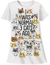 I Was Normal 3 Cats Ago - Sleep Shirt w Gift Bag - Relevant Products -Cat Lovers