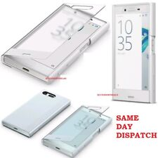 Genuine Sony Experia X COMPACT FLIP CASE smart phone clear touch original cover