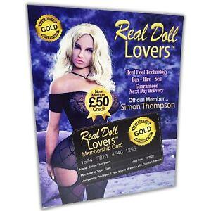 Prank Mail Fake Joke Real Doll Lovers Sex Gift Card Birthday Xmas Secret Santa
