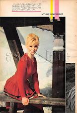 1961, Mylene Demongeot / Marlon Brando Japan Vintage Clippings 3sc4