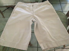 LIZ CLAIBORNE Tan Khaki 100% Cotton Women's Shorts Size 8