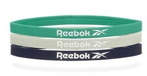 Reebok Unisex Sports Headband Running 3PK Green Gray Hairband Bands RRAC-18011
