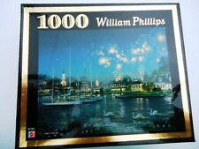 William Philips Fireworks Over The Harbor 1000 Piece Jigsaw Puzzle 2002 #B1041
