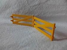 2 Stck Playmobil Zaun Gatter gelb für Farm Bauernhof Tiere
