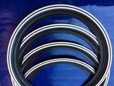 """15"""" Wheels White wall White Double stripe port a wall  VW Beetle karmann ghia"""