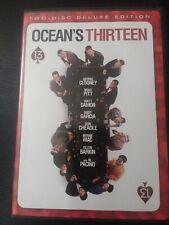 Oceans Thirteen Dvd Exclusive 2-Disc Deluxe Edition Pitt Clooney Pacino Very Gd