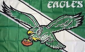 Philadelphia Eagles Retro Logo NFL Flag 3x5 ft Sports Banner Man-Cave Garage Bar