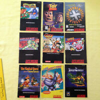 Super Ninetendo Instruction Booklets, Manuals, 9 to Choose From