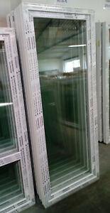 Kunststoffbalkontür (Kunststoff - Balkontür) 90x220 cm bxh, (900x2200 mm bxh)