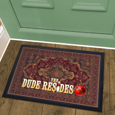 Printed Rug-Look Welcome Mat Doormat The Dude Resides Based on The Big Lebowski