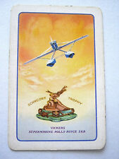 SCHNEIDER AIR RACE TROPHY 1931 A SINGLE SWAP CARD VINTAGE PLAYING CARD