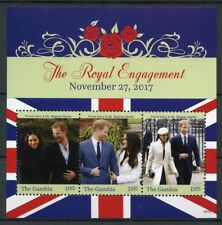 Gambia 2018 MNH Prince Harry & Meghan Royal Engagement 3v M/S Royalty Stamps