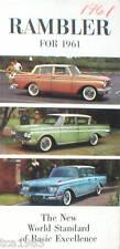 1961 RAMBLER Dealer Brochure / Catalog: 6,REBEL,AMBASSADOR,AMERICA
