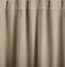 Pottery Barn Velvet Pole Pocket Drape Panel Curtain (1) 50x108 Taupe/Beige Nip