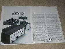 Sony 1966 Ad, 2 pg, TA-3120 Amp, TA-1120, Servomatic Turntable TTs-3000, Article