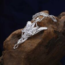 Fine Women 925 Sterling Silver LOTR Arwen Evenstar Zircon Pendant Necklace Y10