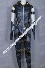 Smallville Green Arrow Costume Black Leather Costume Outfit Halloween Cool New