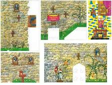 VINTAGE FISHER PRICE LITTLE PEOPLE 993 CASTLE TOWERS REPLACEMENT LITHOS STICKERS