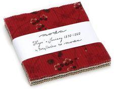"Hope's Journey Moda Charm Pack 42 100% Cotton 5"" Precut Fabric Quilt Squares"