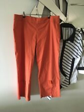 TS TAKING SHAPE Rust Orange 3/4 Length Stretch Pull On Pants Button Detail 18