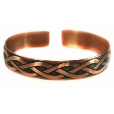 Pure 100% Copper Bracelet Bioactive Bangle Vintage Style Bronze