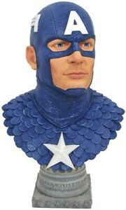 LEGENDS IN 3D MARVEL CAPTAIN AMERICA 1/2 SCALE BUST [New Toy] Statue,