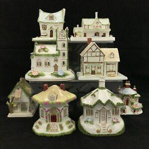 Coalport Bone China Pastille Burner Cottages Bundle x 8 Ceramic Buildings 233054