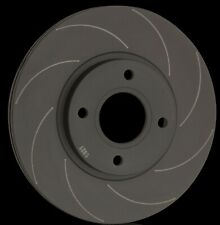 National 8 Grooved and Blacked Brake Discs (Pair) PBD1429GB Fits Land Rover