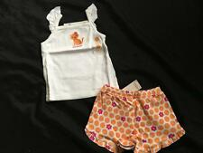 NWT Gymboree ICE CREAM SWEETIE 3 3T Top Shirt Shorts Outfit Cat Kitty Meow Dots