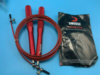 DMoose Jump Rope Speed Skipping Adjustable Wire Ball Bearing  (red) LOT OF 2