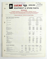 dodge car \u0026 truck parts catalogues for sale ebaylucas parts book for dodge truck v series \u0026 410 series will post