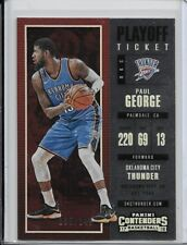 2017-18 Panini Contenders Playoff Ticket Paul George #/249