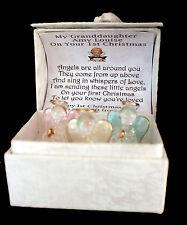 Baby Granddaughter 1st Christmas Personalised gift Guardian Angel  Poem Box CD10