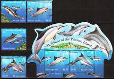 PITCAIRN ISLANDS Sc#733-736a DOLPHINS SHEET+ MNH SET 2012