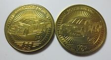 2 1998 Pinnacle Coins Limited Edition Racing Nascar Roush & Robert Yates (PG1445