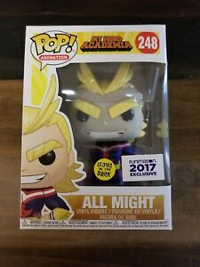 Funko Pop All Might #248 GITD Funimation  Exclusive My Hero Academia