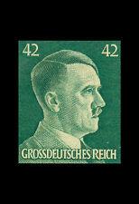 Incorniciato stampa-Adolf Hitler 42 Pfennig Tedeschi TIMBRO 1944 (foto poster arte)