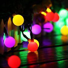 Bacche Colorate Luci Di Natale Natalizie 160 Led Multicolore Filo 16m Albero dfh