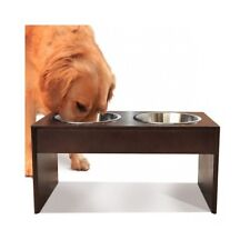 Large Dog Elevated Feeder Tall Double Dish Food Water Bowls Big Breed Raised NEW