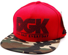 DGK All Day City Red and Camouflage  Adjustable Snapback Flatbill  Cap Hat